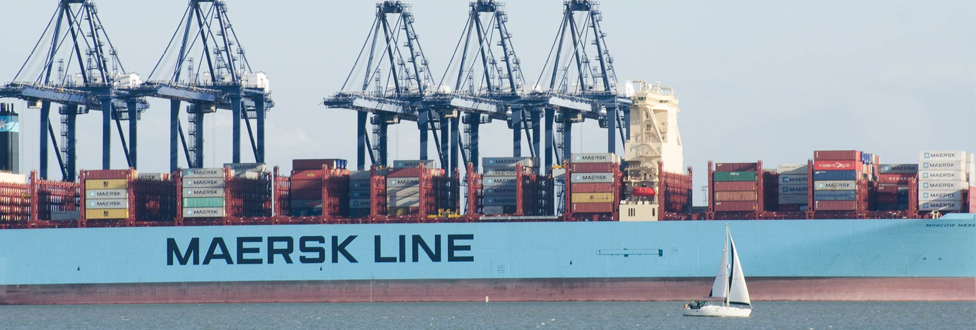 Maersk Line shipping containers